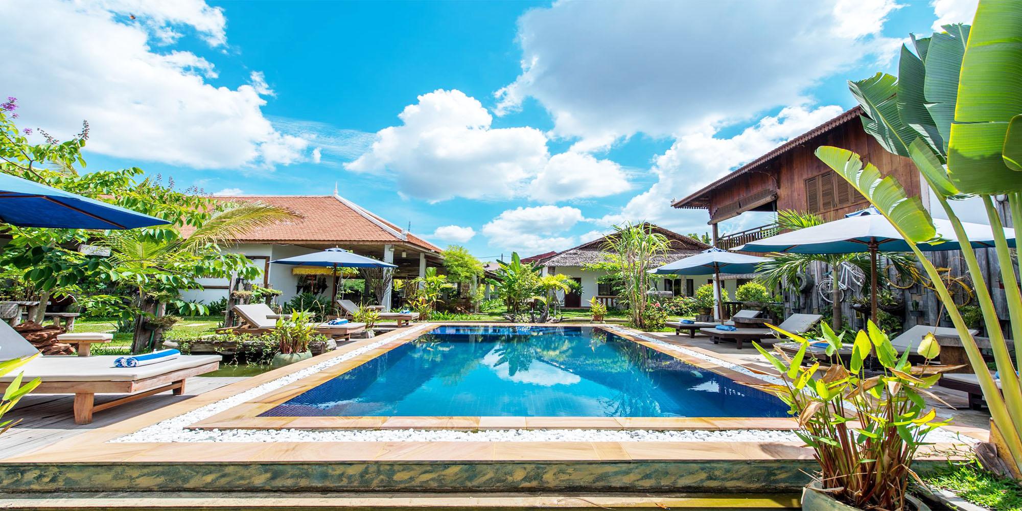 Amazing and Exquisite Decor 10 – Bedroom Bungalow for Rent in Siem Reap – Svay Dangkum [POOL]