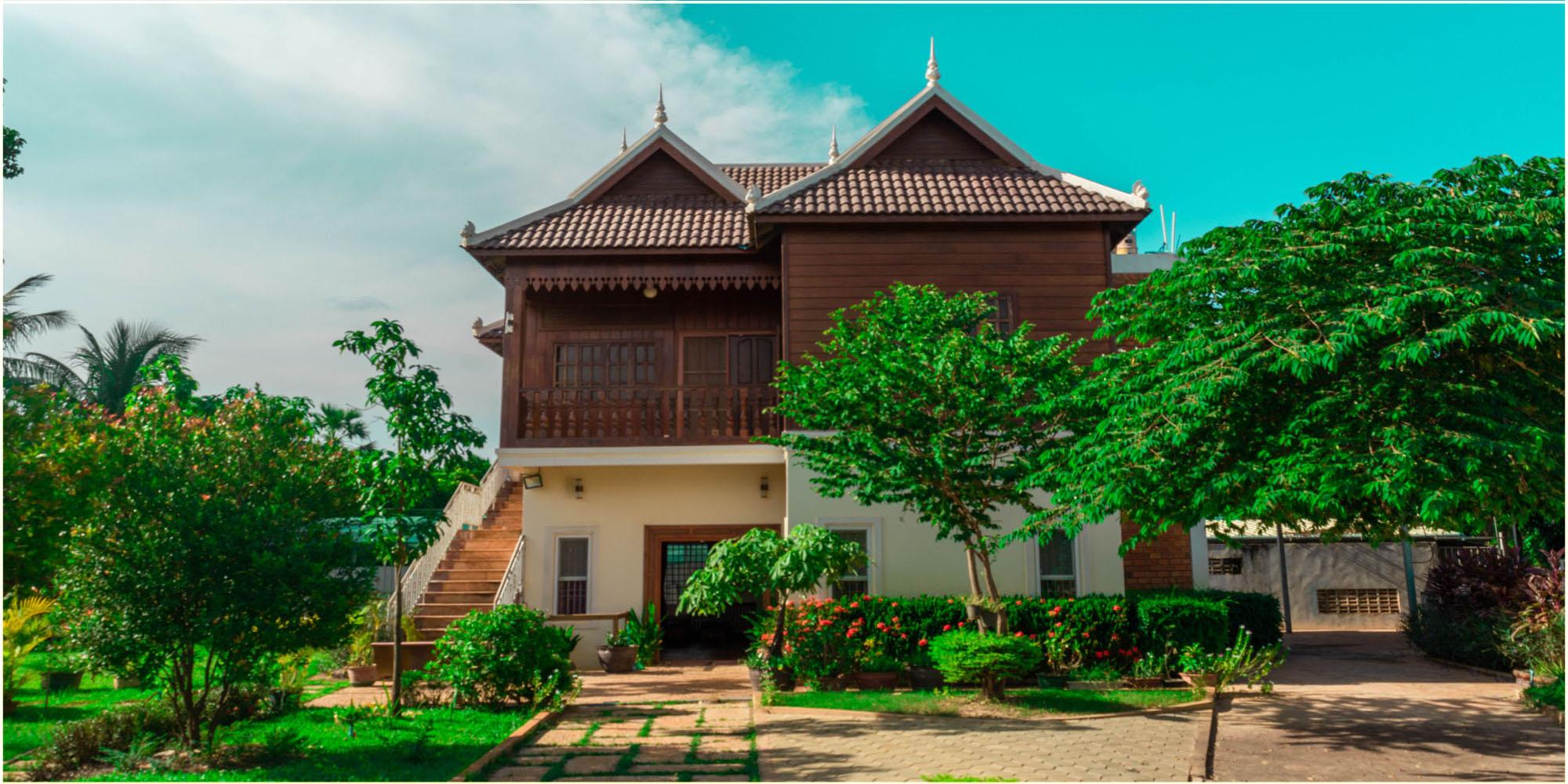 Marvelous and Greenish 03 – Bedroom Wooden House for Rent in Siem Reap – Sala Kamreuk